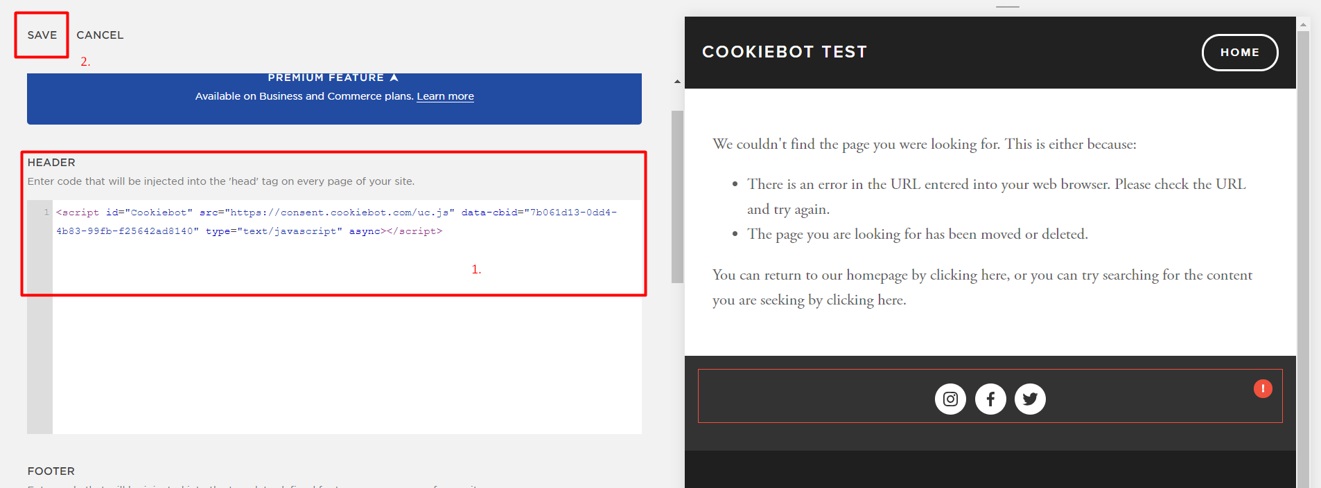 Cookiebot and Squarespace – Cookiebot Support